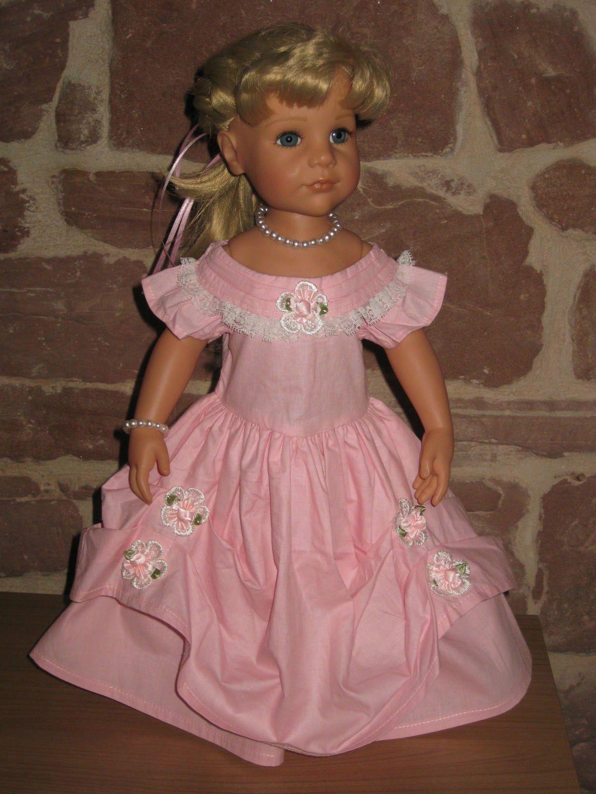 Prinzessinnen Kleid, Puppenkleidung, 46, 50cm Puppe, ohne Götz Puppe ...