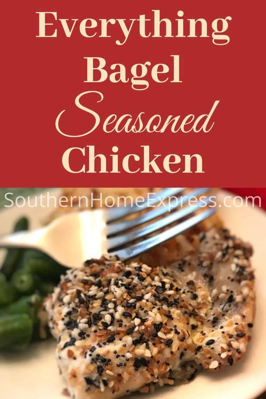 Everything Bagel Seasoned Chicken Recipe In 2020 Chicken Seasoning Everything Bagel Chicken Appetizers