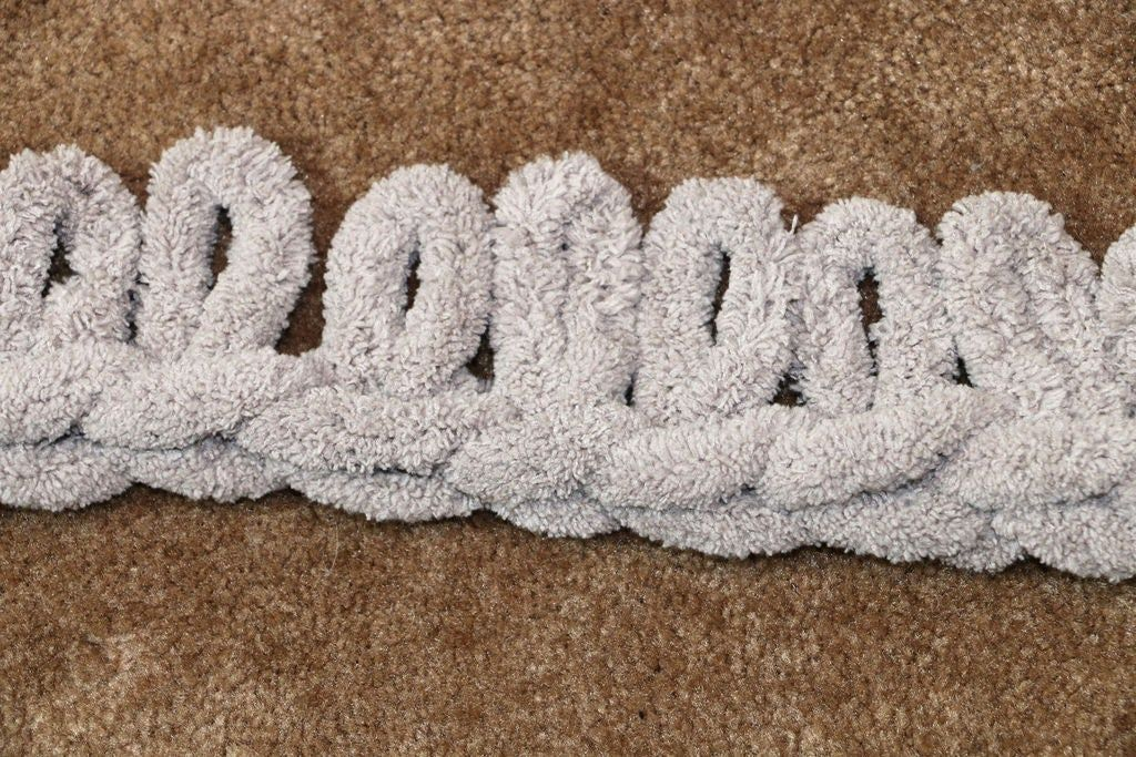 Easy chunky handknitted blanket in one hour chunky yarn
