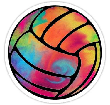 Rainbow Volleyball Sticker by AllisonDawn15