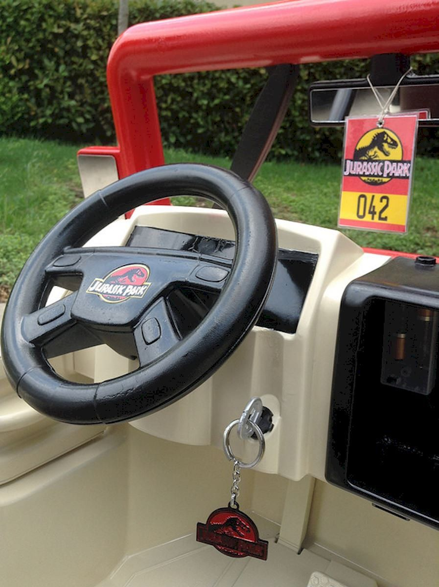 Countdown To Jurassic World Power Wheels Jeep Modified Into A