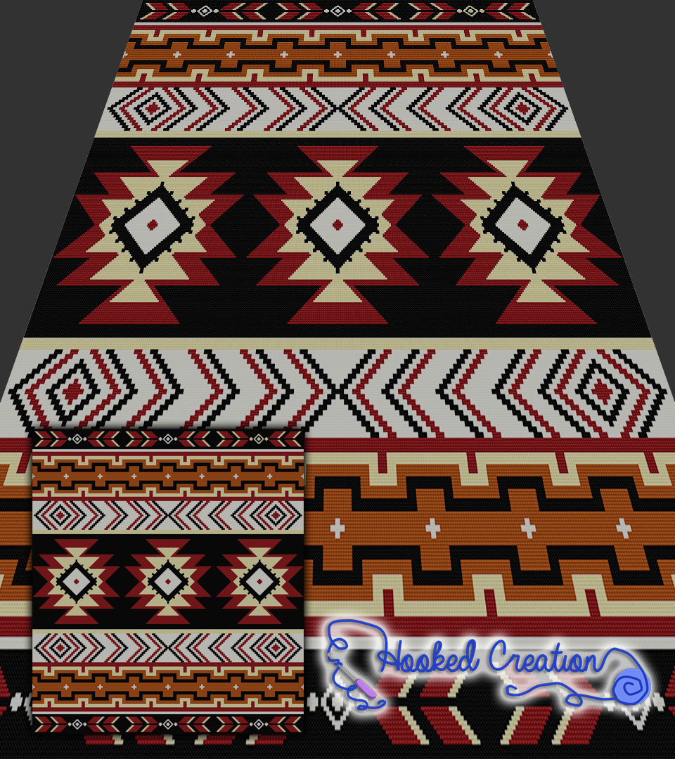 Navajo Inspired SC Full Size Blanket Crochet Pattern | Blanket ...