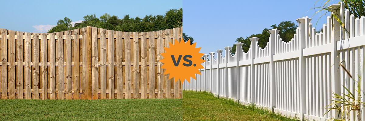 Homeadvisor S Vinyl Vs Wood Guide Reviews Pvc Vinyl Plank And Board Fences And Cedar Pine Or Redwood Privacy Fences Vinyl Fence Fence Design Backyard Fences