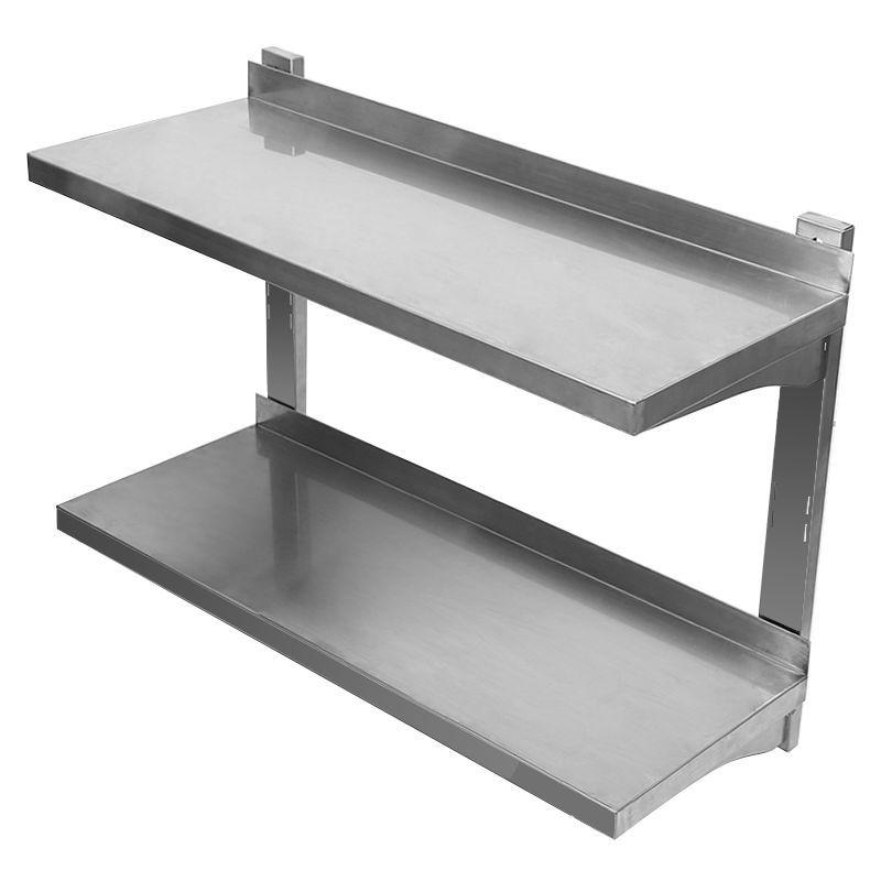 Étagère Meuble stockage Rangement salle de bain en INOX Hauteur réglable Étagère à 2 niveaux – rangement multifonction en métal – JEOBEST