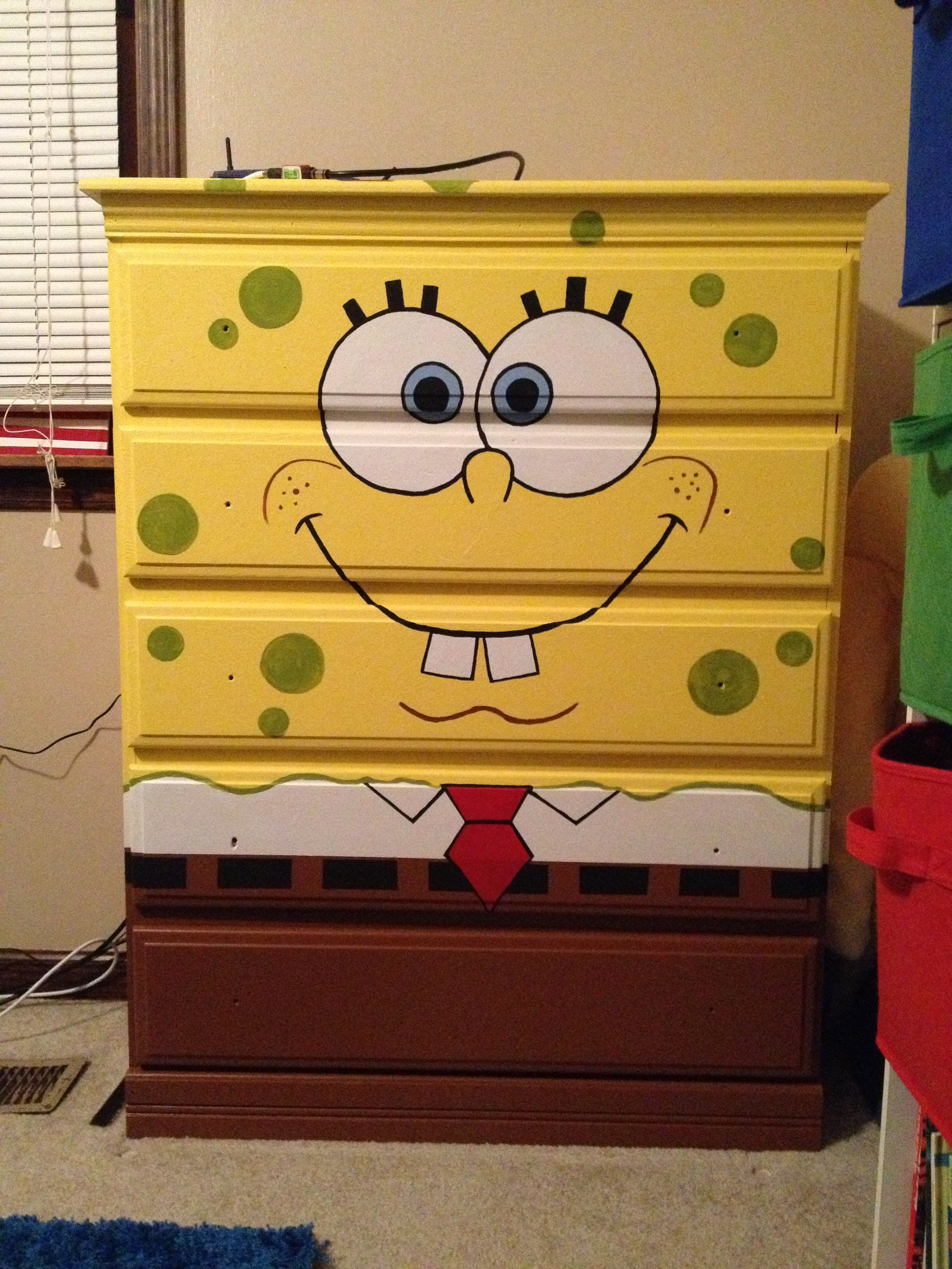 Spongebob Dresser Bought Unfinished Had A Friend Paint