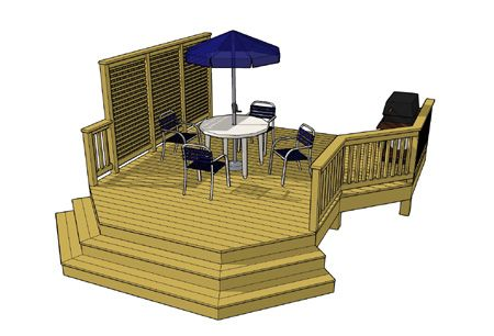 Free Deck Plan 1l036 Deck Plans Diy Deck Design Free Deck Plans