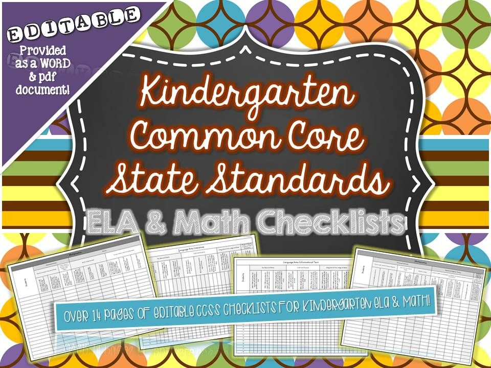 Checklist for ELA and Math Common Core Standards