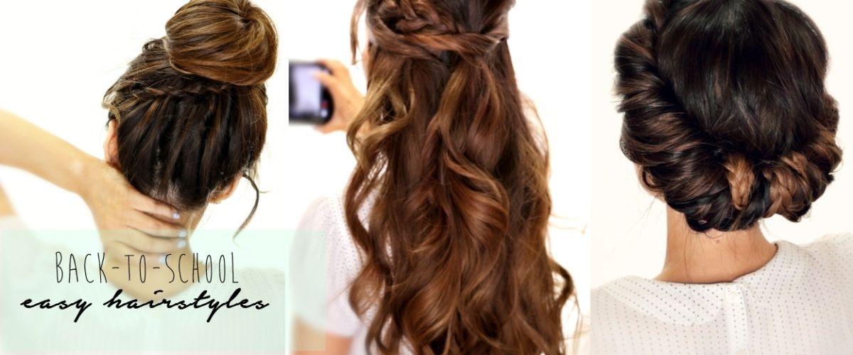 4 Totally Easy Back To School Hairstyles Cute Hair Tutorial Hair
