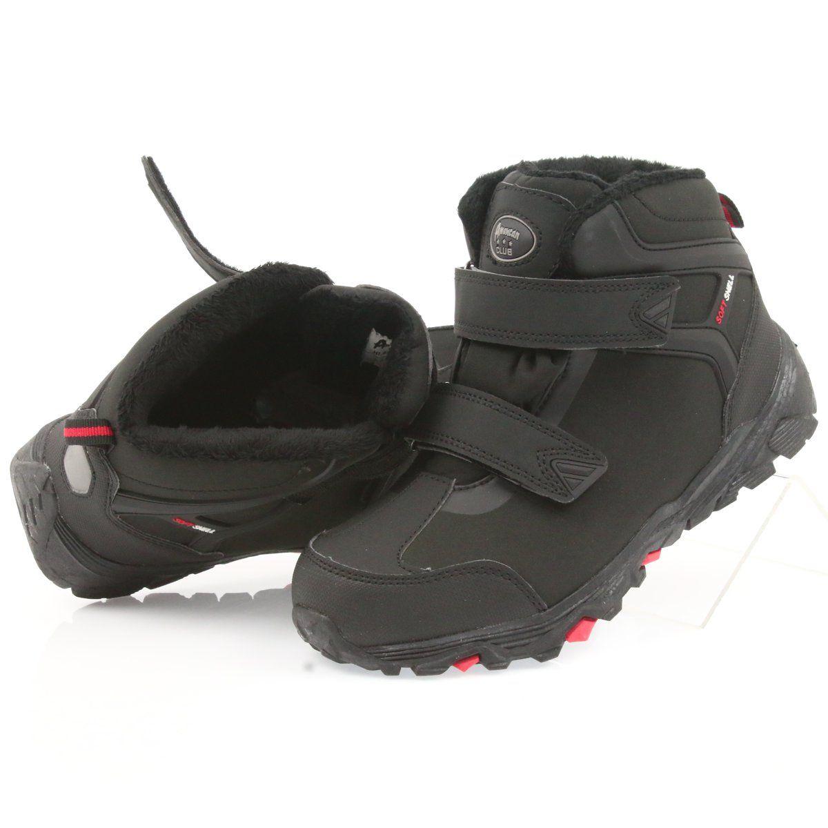 American Club American Trzewiki Buty Zimowe Z Membrana Czarne Boots Hiking Boots Softshell