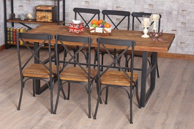 Etourdissant Chaise Bois Fer Iron Table Wrought Iron Table Wood Dining Room Table