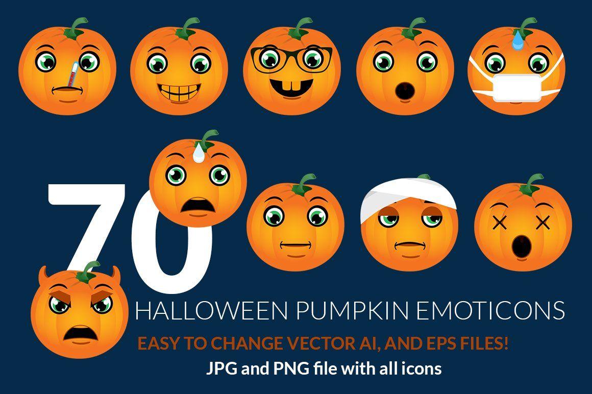 Halloween Pumpkin Emoticons AFFILIATE Savouring