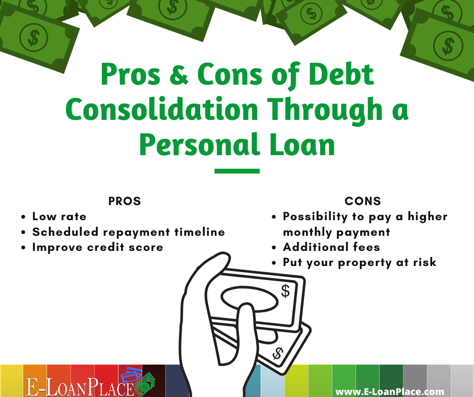 Pros Cons Of Debt Consolidation In 2020 Consolidate Credit Card Debt Personal Loans Credit Cards Debt