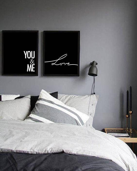 Du und ich Wandkunst, du und ich Print, Liebe Wandkunst, minimalistische Kunst, schwarz und w...