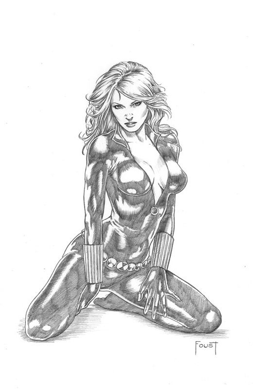 Picture | LineArt: Black Widow | Pinterest