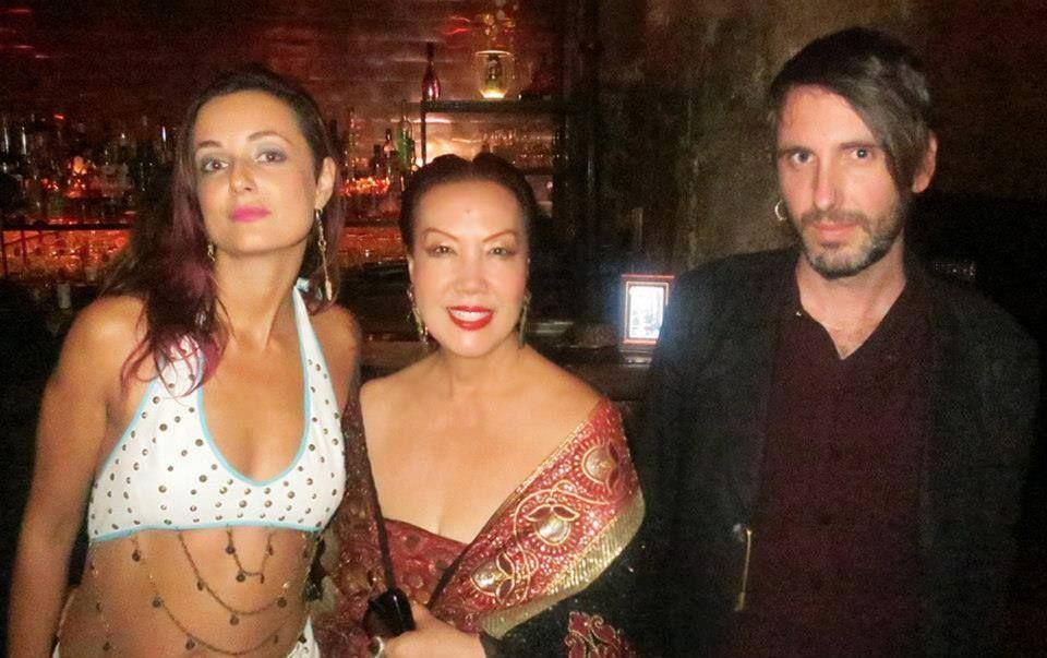 Sue Wong with Violonist Fabrice Martinez and Singer Ursula Knudson of FISHTANK ENSEMBLE