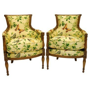 Nice Check Out This Item At One Kings Lane! Butterfly Print Chairs, Pair