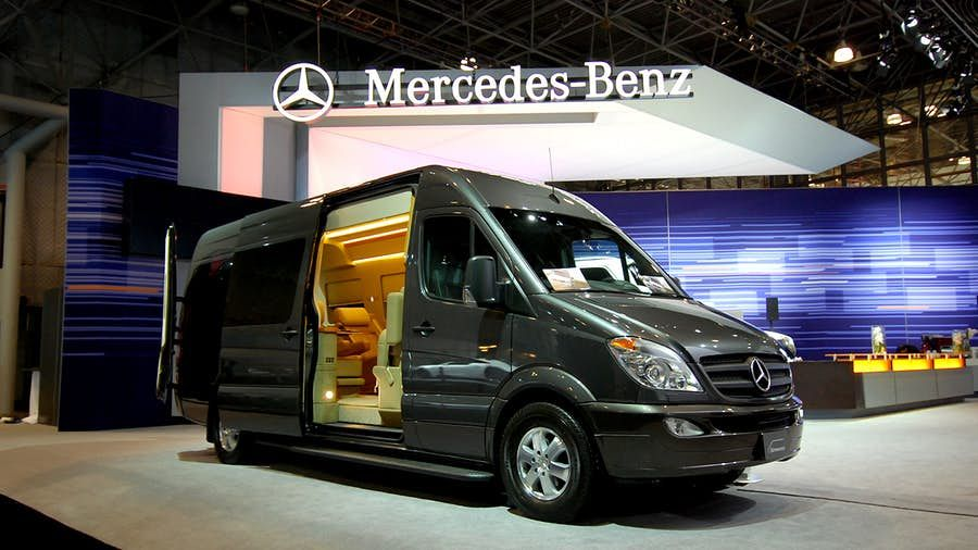 MercedesBenz Sprinter Van outfitted like a private jet