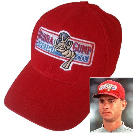 Forrest Gump Halloween costume Bubba Gump Shrimp Co Hat red adjustable Cap f59e825fea93