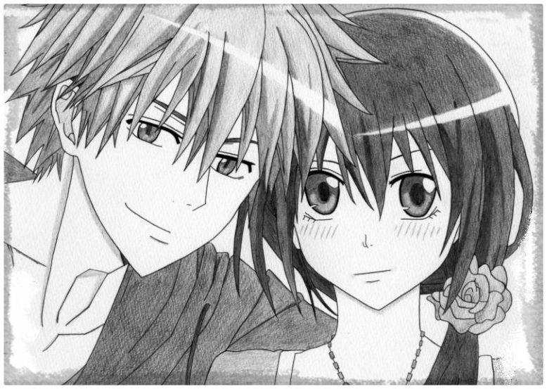 Anime Bonito Dibujos: Imagenes De Amistad Hechas A Lapiz