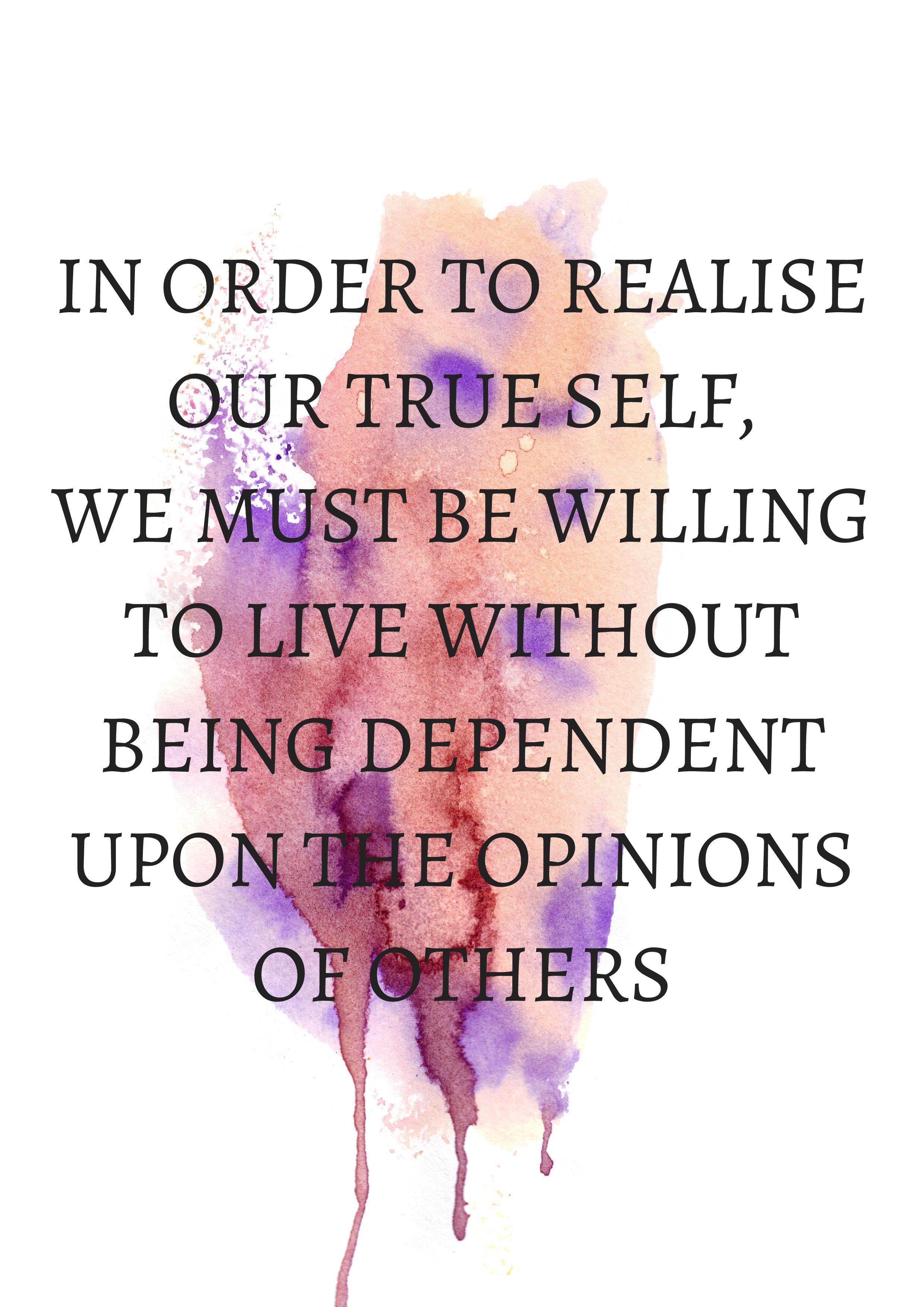 In Order To Realise Our True Self We Must Be Wi Printables Shop