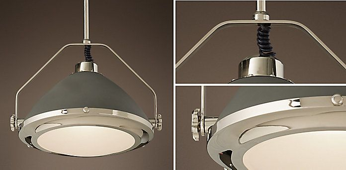 Keene pendant polished nickel slate grey restoration hardware keene pendant polished nickel slate grey restoration hardware aloadofball Images