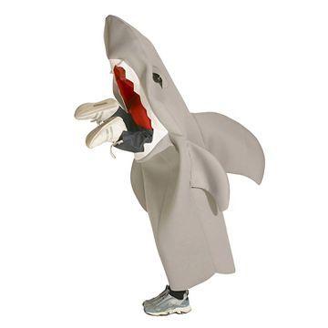 Lil' Man Eating Shark Kid's Costume Grey - Medium