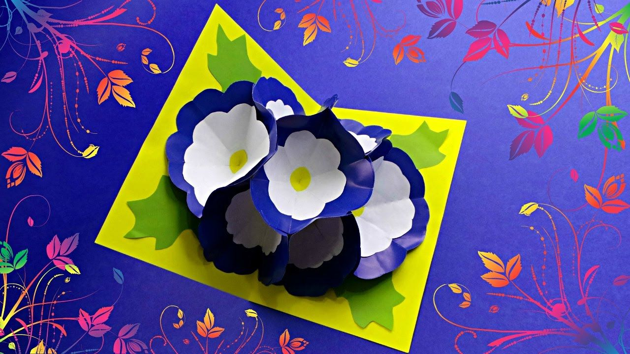 Diy 3d Flower Pop Up Card Tutorial Card Making Ideas Cards