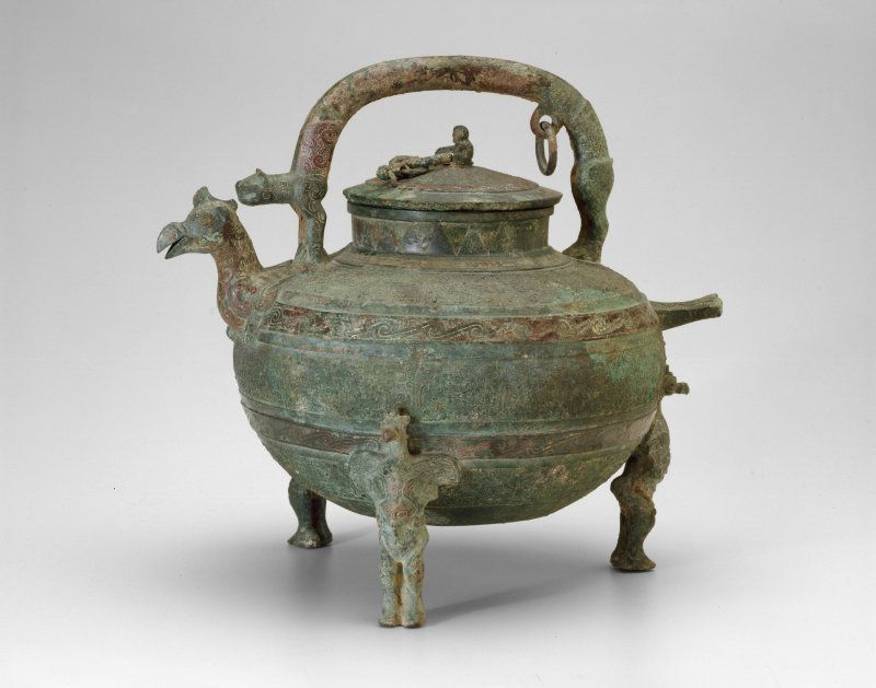 China Water Ewer (He), Eastern Zhou dynasty, Warring States period (480–221 B.C.), 4th century B.C.