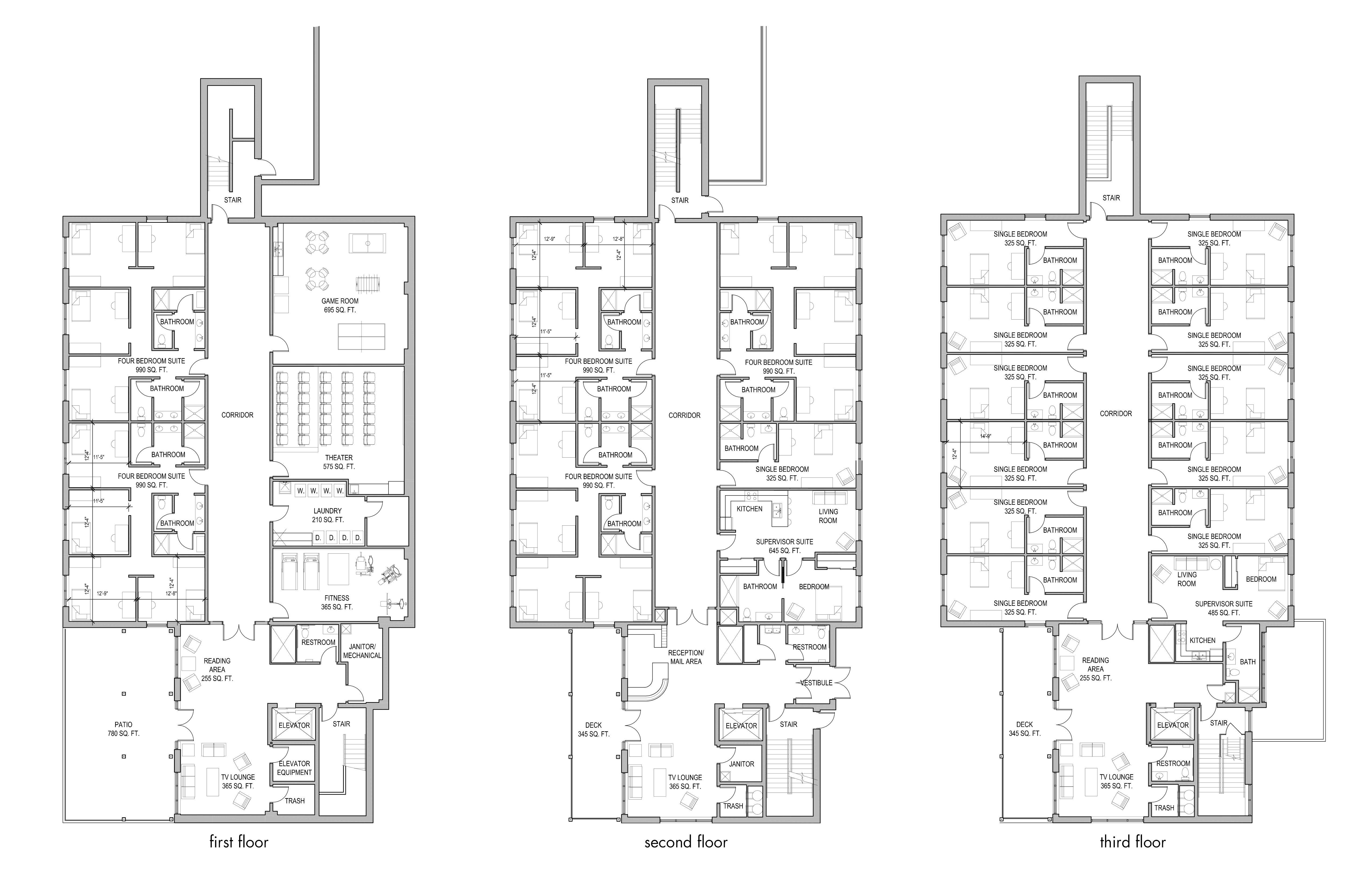 Boarding school floor plan layouts boarding school features