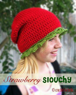 Crochet Rochelle: Strawberry Slouchy. Free Pattern | Ideas for small ...