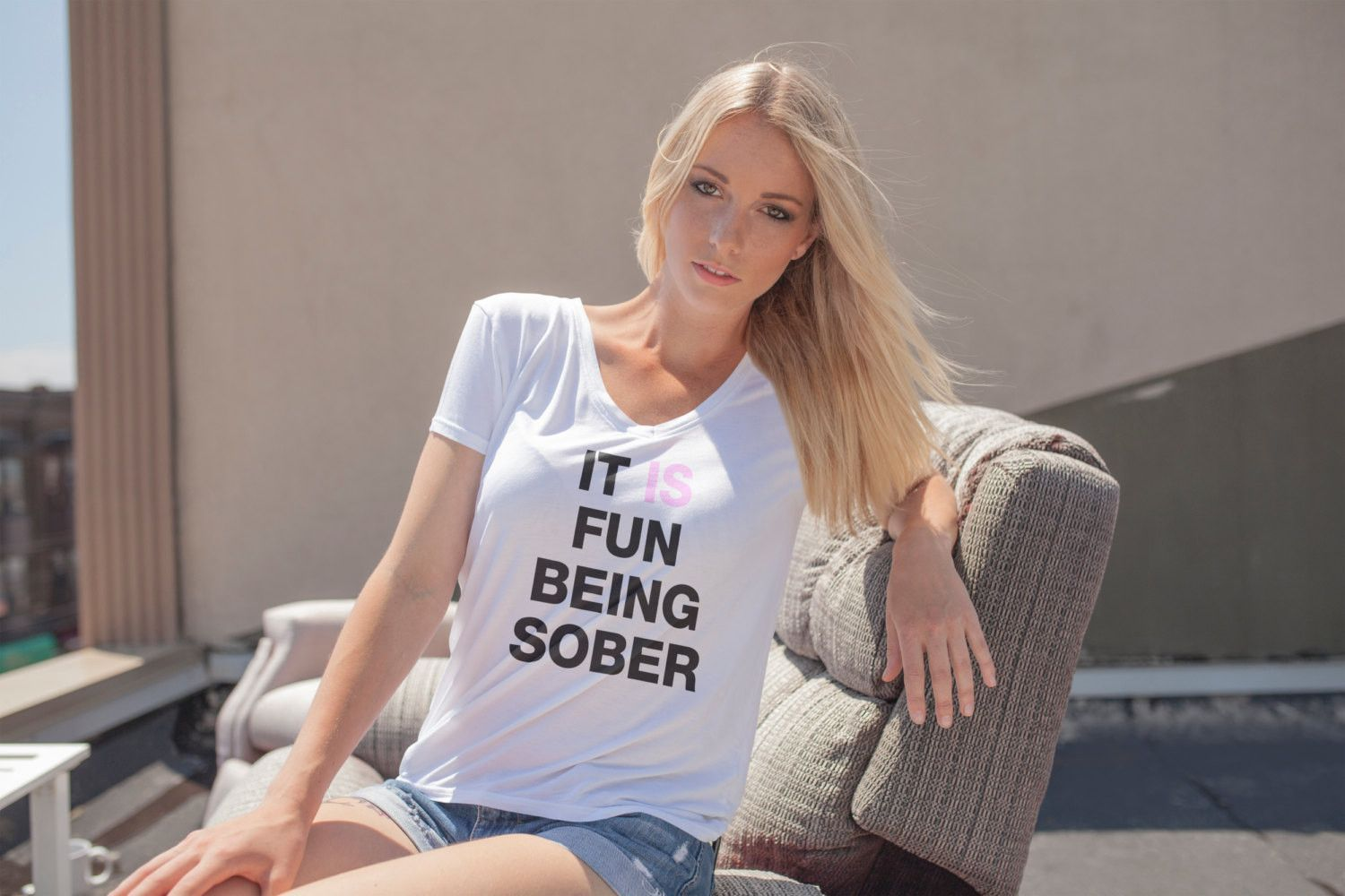 It Is Fun Being Sober T-shirt (The Perfect Tee)