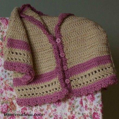 Sweet Girl Sweater free girls crochet sweater pattern | crochet ...