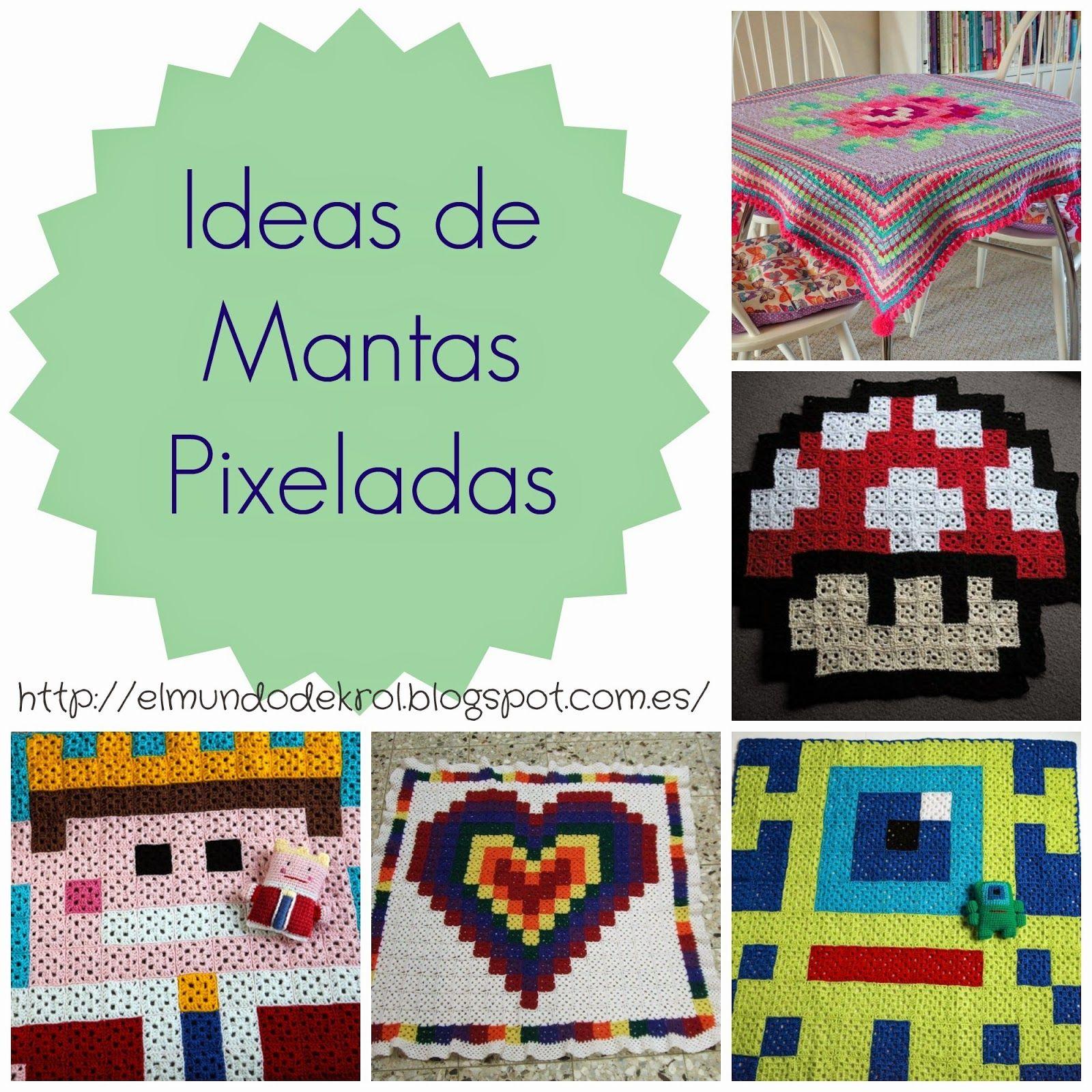 El Mundo de K rol: Mantas pixeladas a crochet | Blog - El Mundo de K ...