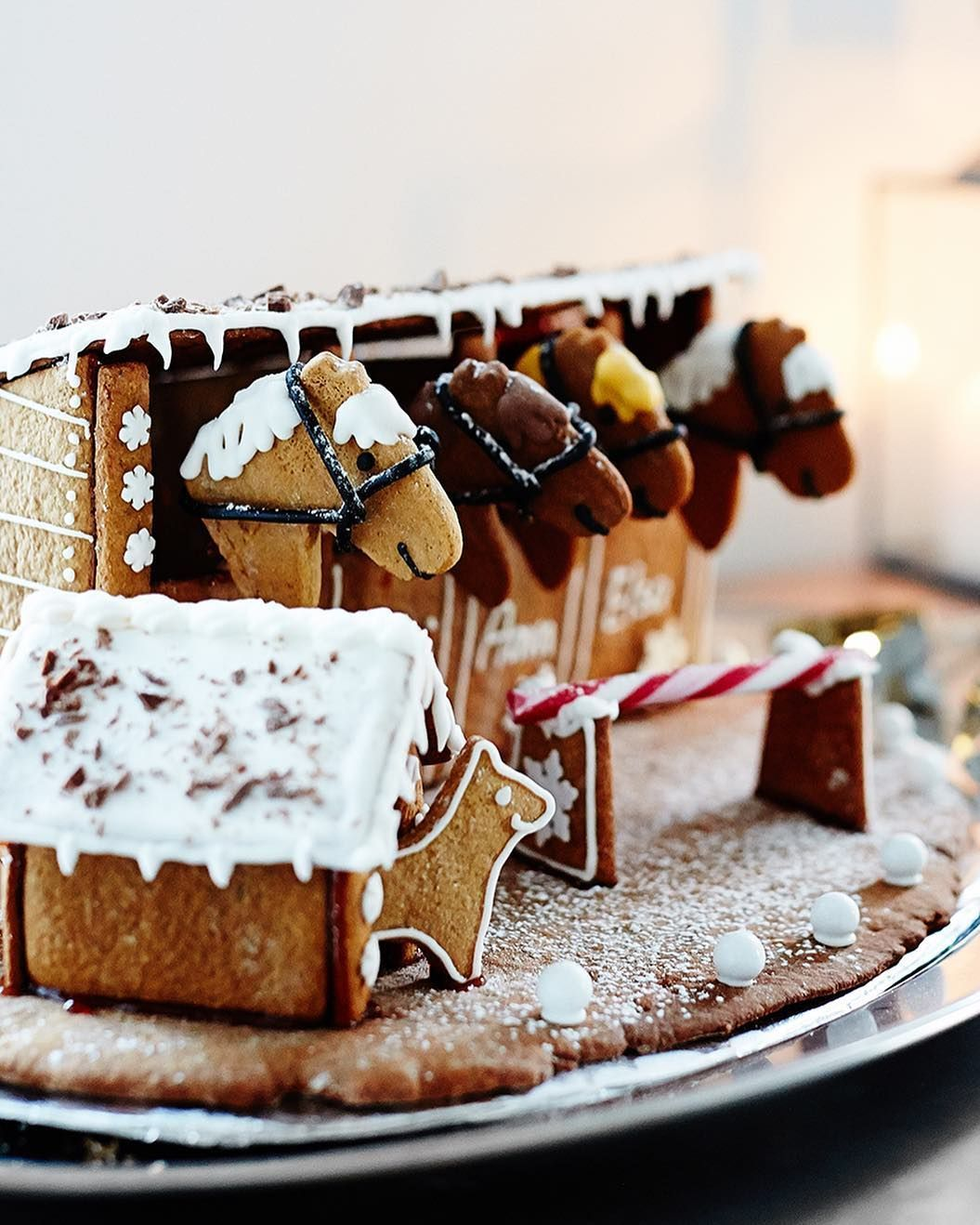 Image result for gingerbread horse stable