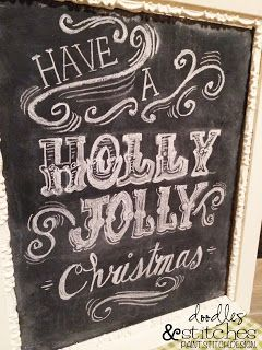 Doodles & Stitches: Christmas Chalkboard Tutorial