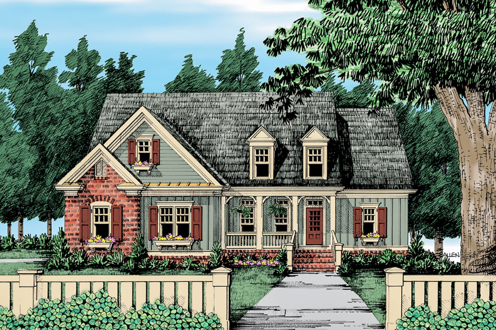 Plan 710088btz Cozy Craftsman Cottage With Optional Second Floor In 2021 Country Style House Plans Craftsman House Plans Country House Plans