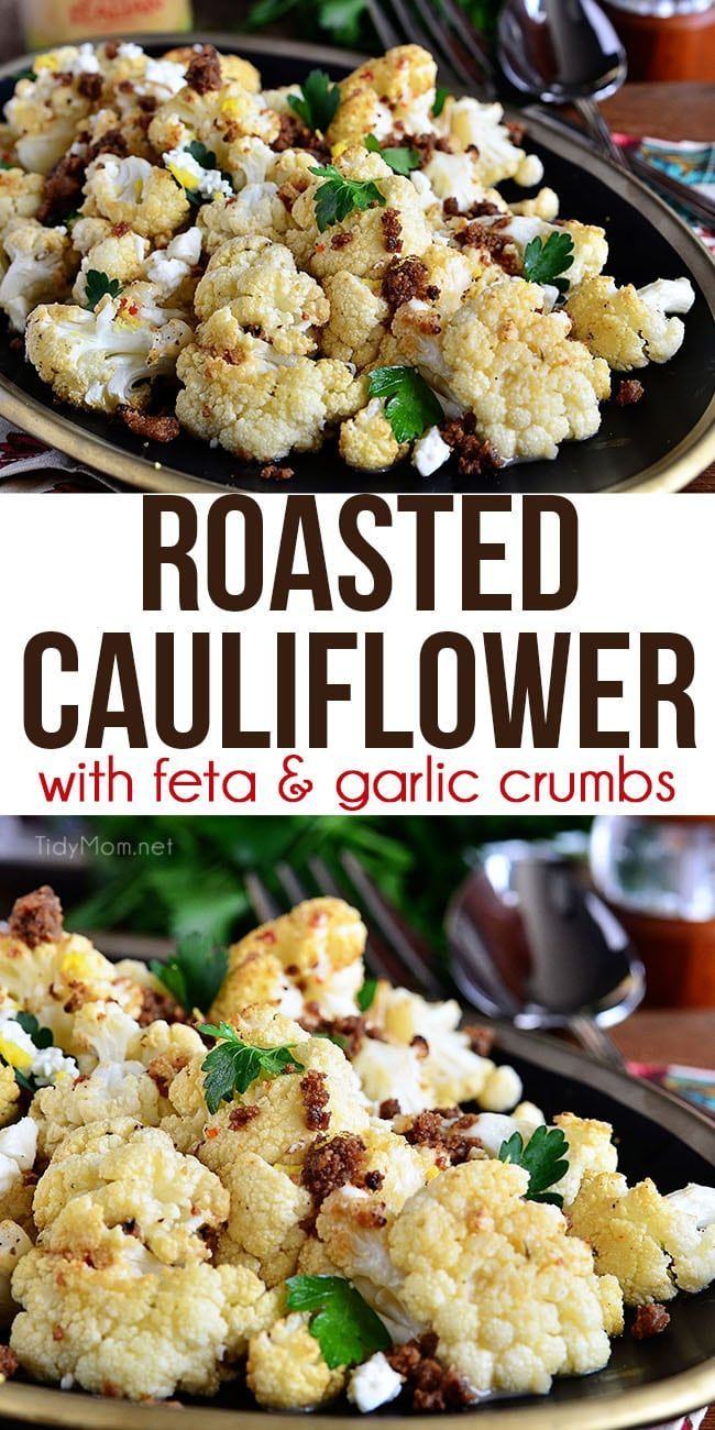 Roasted Cauliflower With Brown Butter Garlic Crumbs Recipe