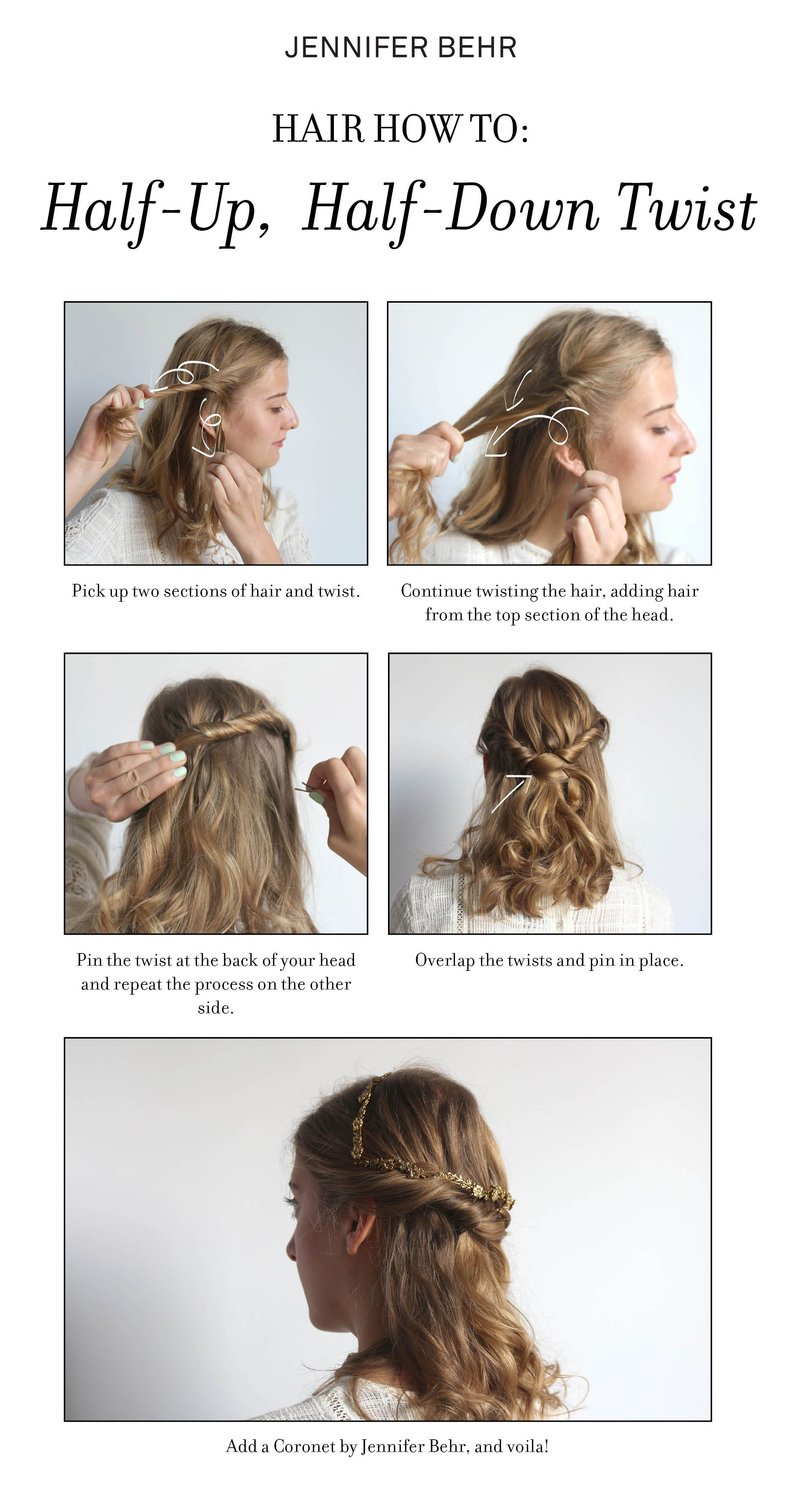 How to style a Coronet - a headband style unique to Jennifer Behr ...