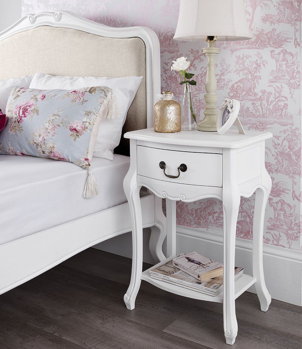 Shabby Chic Bedroom Furniture: Details About SHABBY CHIC White Bedroom Furniture, Bedside