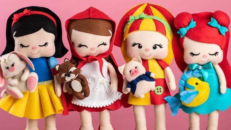 Resultado de imagem para Feltro divertido: bonecas e mascotes