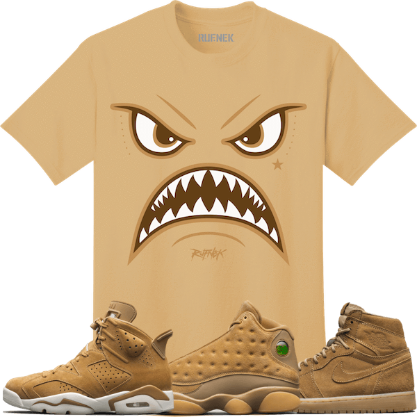 47601bc1bff Jordan 6 Wheat Golden Harvest 13s Sneaker Tees Shirt - WARFACE | clothes