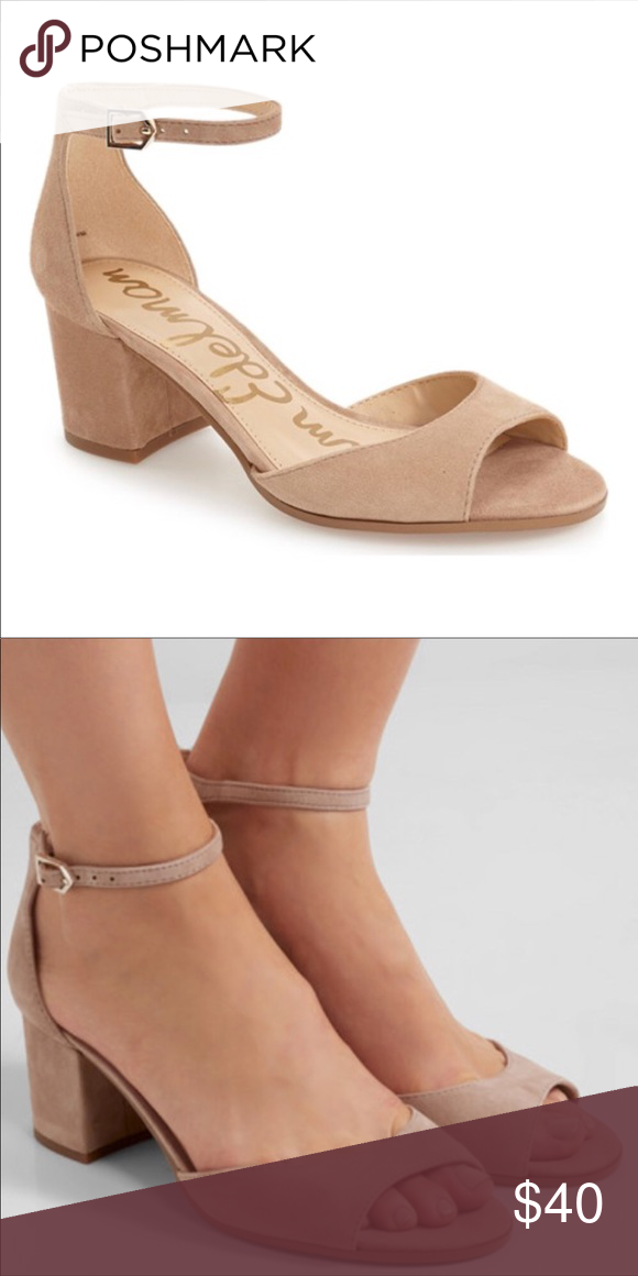 c5e70539586 Sam Edelman Susie Suede Sandals in Oatmeal Add the perfect finishing touch  to your work or weekend look with the Susie sandal from Sam Edelman.