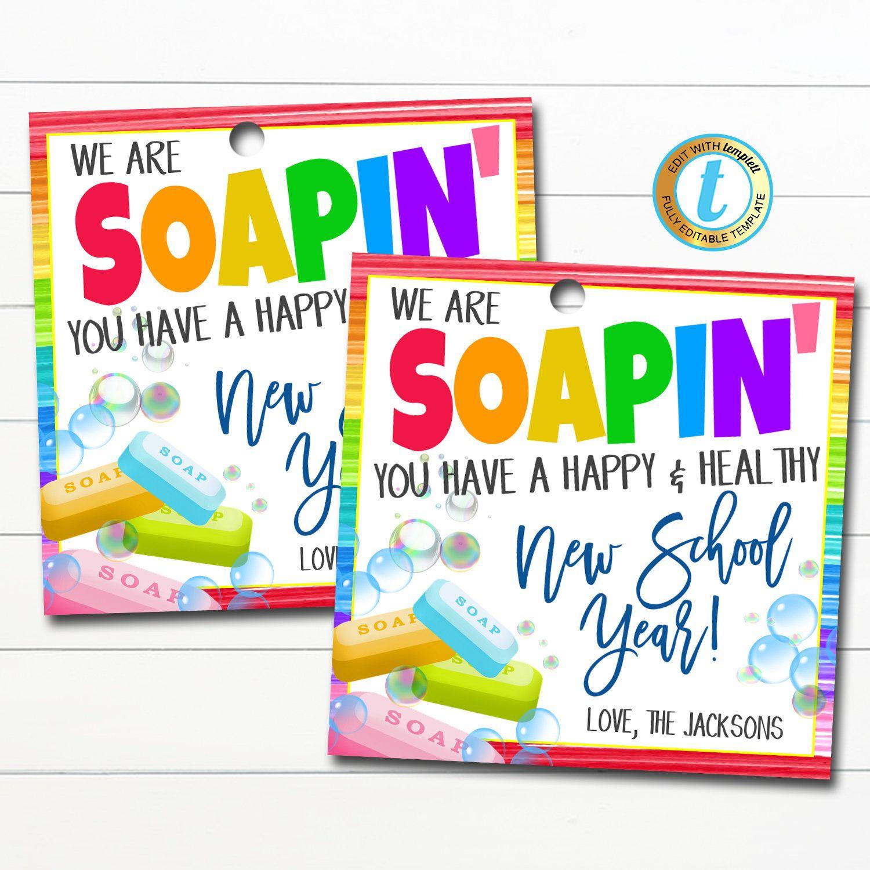 Back To School Soap Gift Tag New School Year Teacher Staff