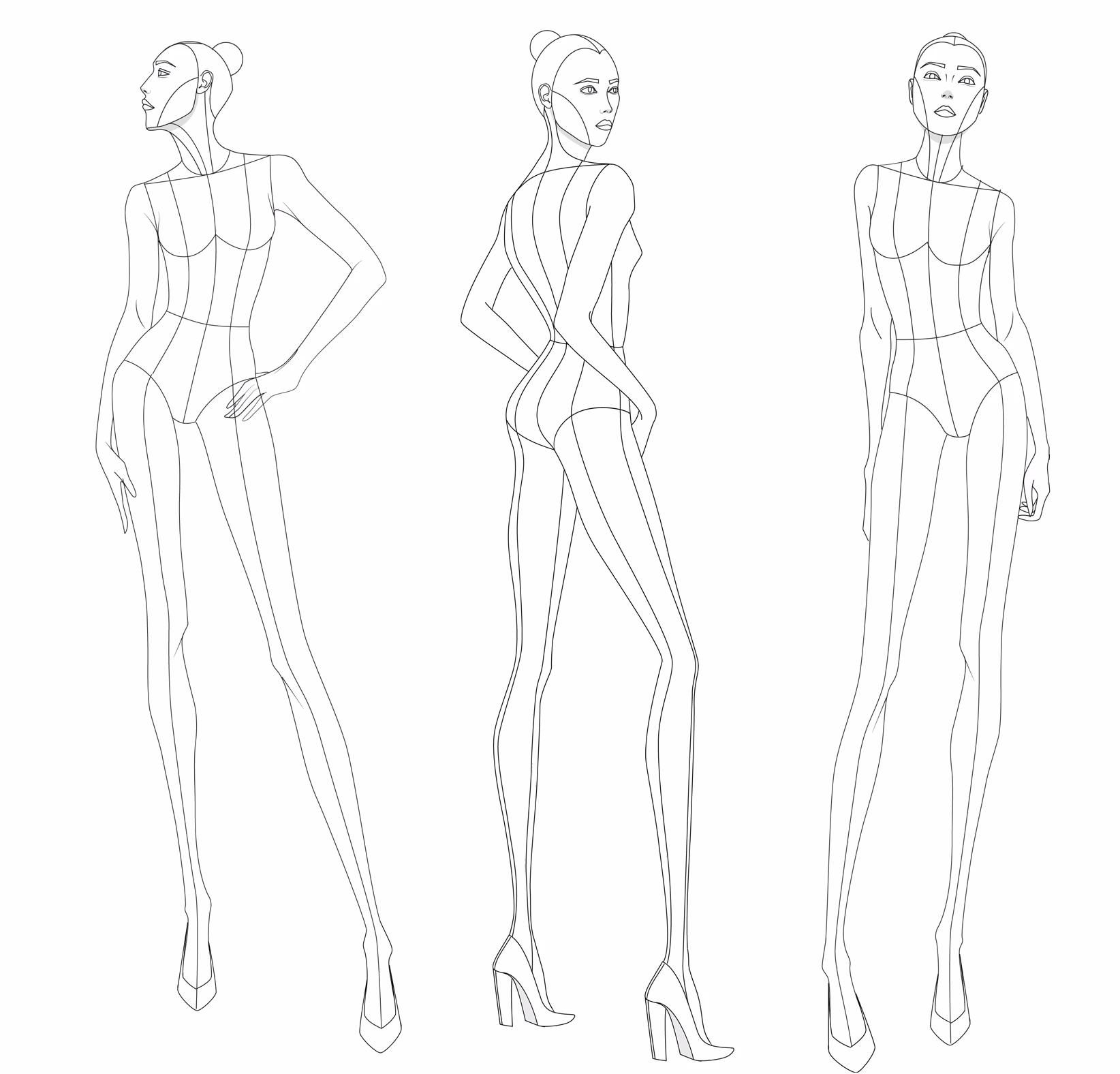 Photo of Fashion Illustration Croquis Kit (Figure Templates)