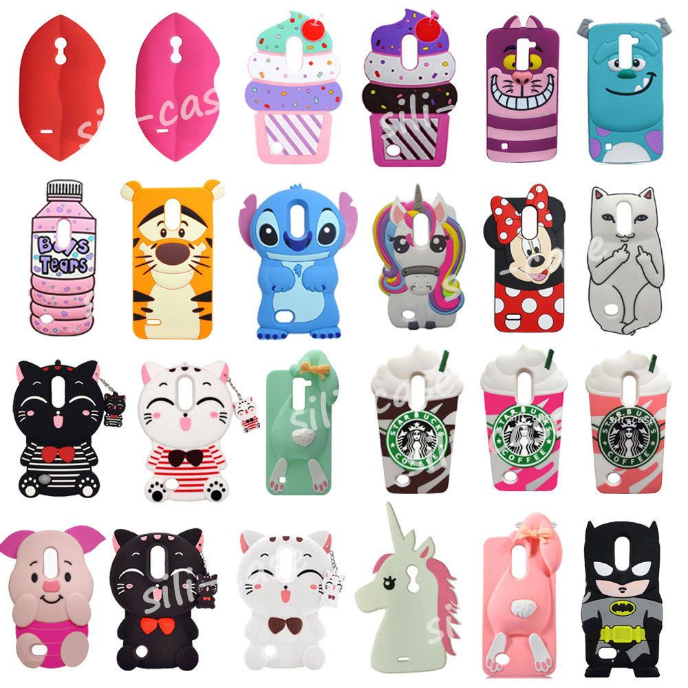new arrival b5c44 0611f Details about Cute 3D Cartoon Soft Silicone Case Back Cover For LG ...