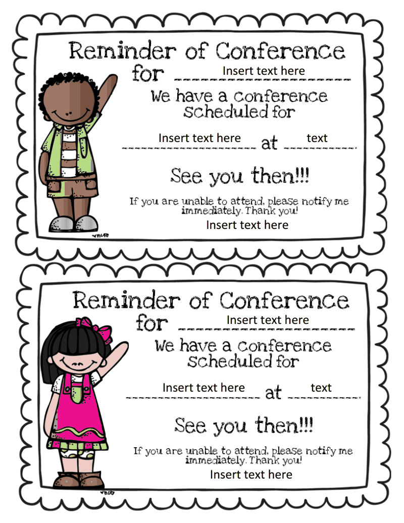 conference forms freebie primary chalkboard ppt