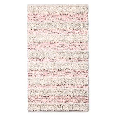Woven Accent Rug 30 Quot X48 Quot Pink Amp Cream Pillowfort