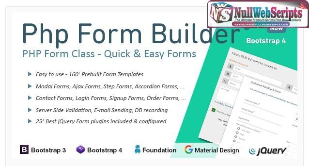 Download Free PHP Form Builder v3.5.1. This is the latest version ...