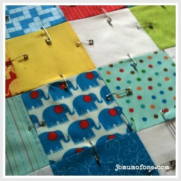 How to Make a Cotbed Quilt for Beginners, Step 7: Layering and ... : quilting beginners - Adamdwight.com