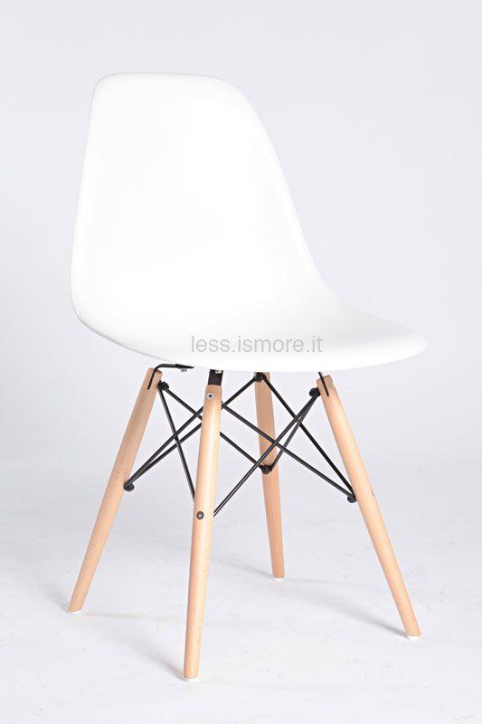 Sedia dsw charles ray eames 1948 riedizione for La sedia nel design